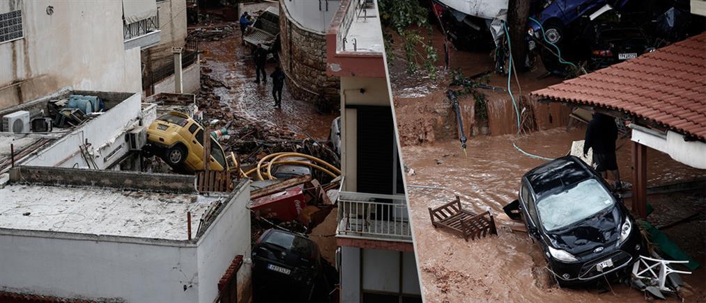 """Πολύνεκρη τραγωδία: """"βιβλική καταστροφή"""" στην Δυτική Αττική (βίντεο+φωτο)"""