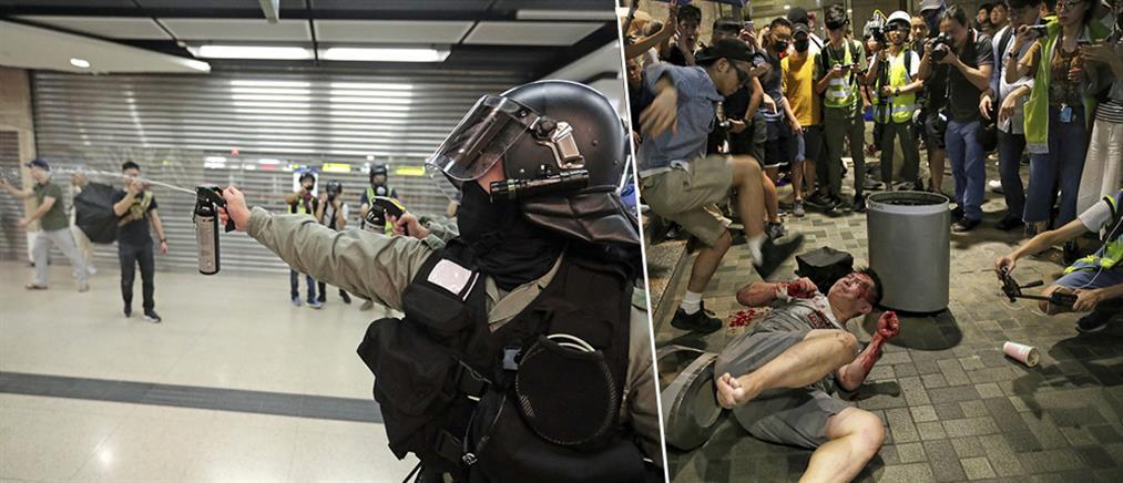Επίθεση με μαχαίρι και άγρια επεισόδια σε διαδήλωση στο Χονγκ Κονγκ (βίντεο)