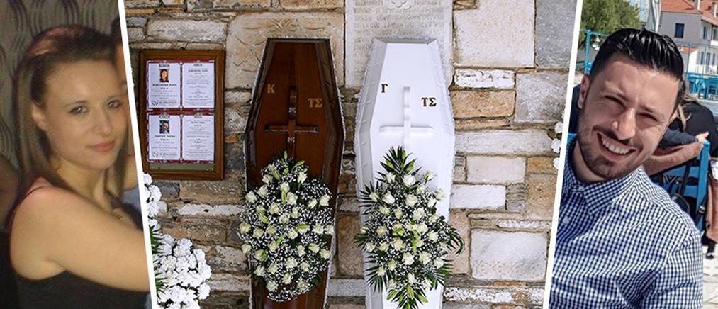 Μακρινίτσα: Σπαραγμός στην κηδεία των δύο αδερφών (βίντεο)