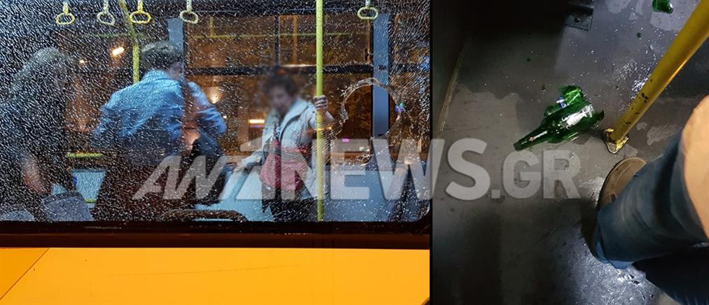 Τραυματίες από επίθεση με μπουκάλι σε λεωφορείο του ΟΑΣΑ (εικόνες)