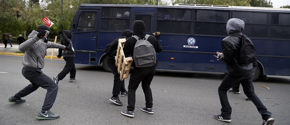 Επεισόδια στο μαθητικό συλλαλητήριο (βίντεο)