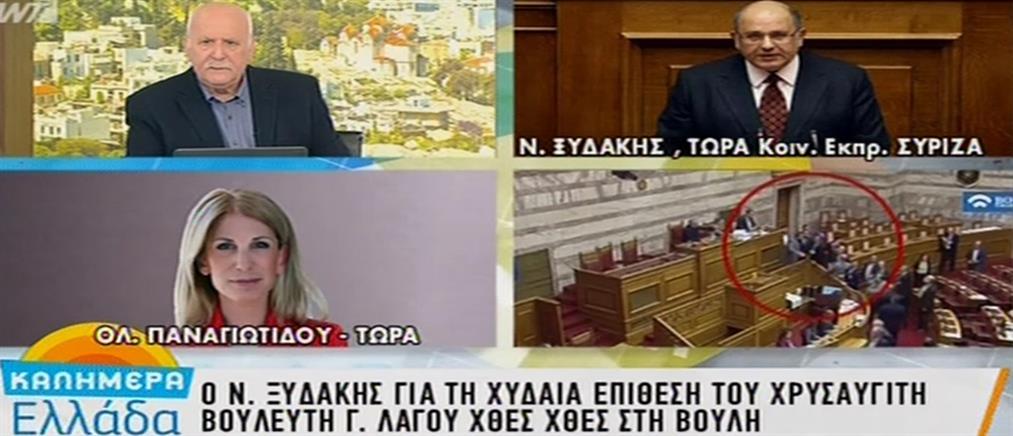 Ξυδάκης στον ΑΝΤ1: Δεν ήταν τυχαίο το επεισόδιο με τον Λαγό στην Βουλή (βίντεο)