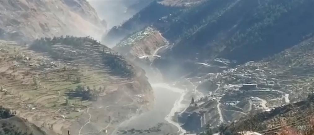 Ιμαλάια: Δραματικές εικόνες μετά την κατάρρευση παγετώνα