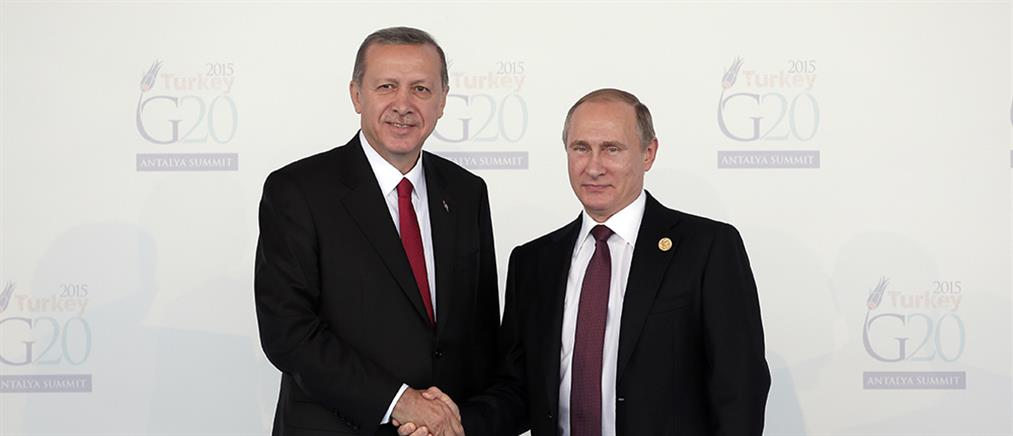 Συνάντηση Πούτιν – Ερντογάν στην Αγία Πετρούπολη