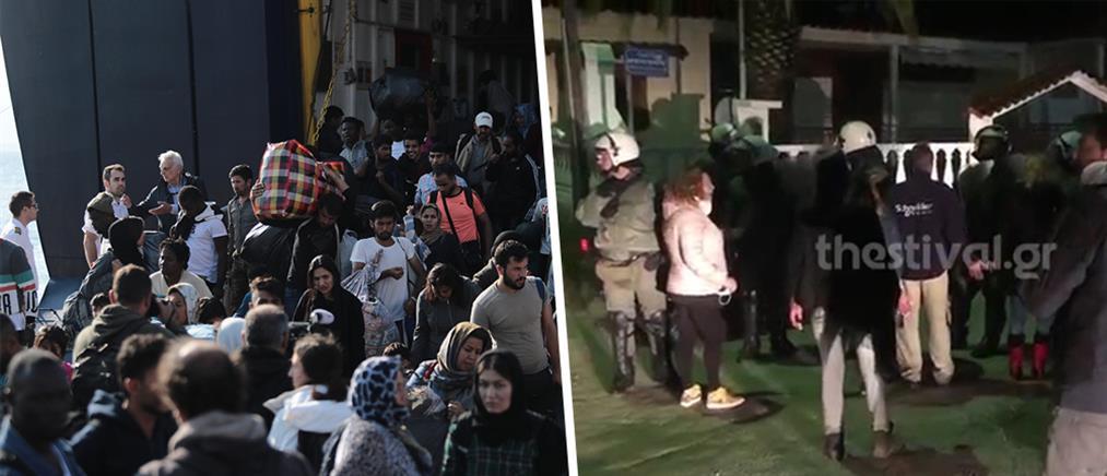 Ένταση στα Βρασνά: Κάτοικοι έδιωξαν λεωφορεία με πρόσφυγες (βίντεο)