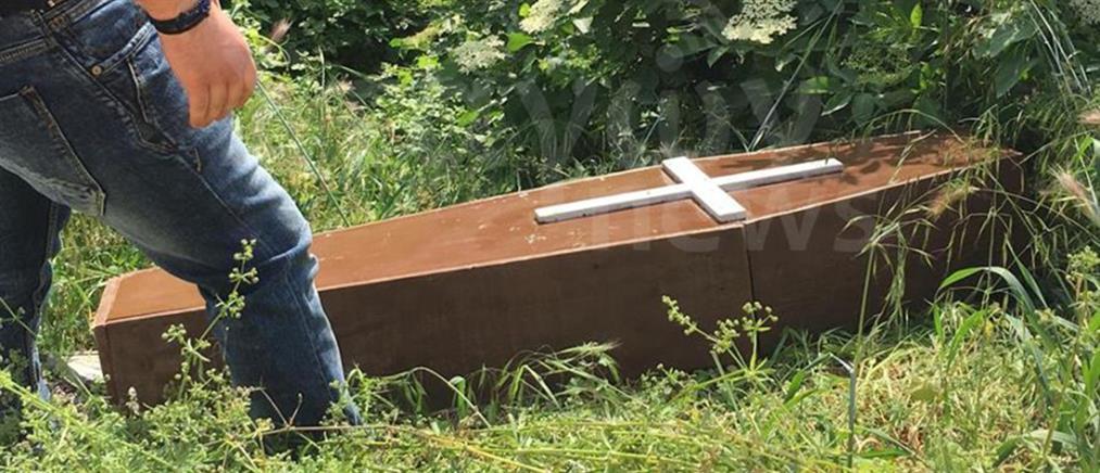 Πήγε για ξύλα και έπεσε πάνω σε… φέρετρο! (φωτο)