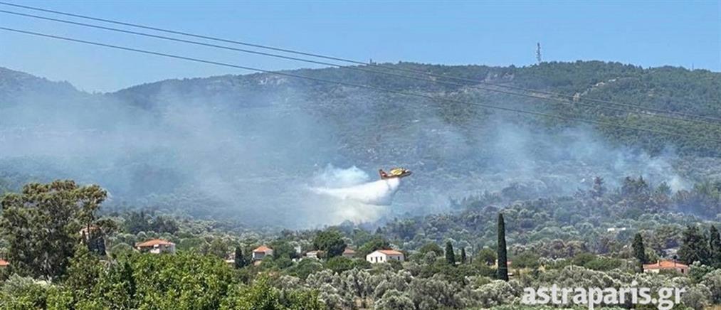 Μεγάλη φωτιά στη Χίο