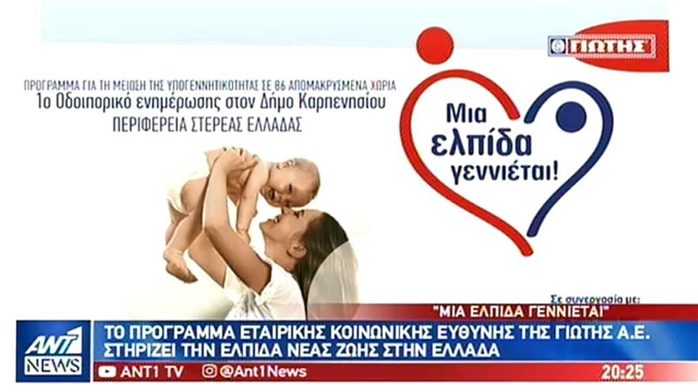 ΓΙΩΤΗΣ: στηρίζει την ελπίδα νέας ζωής στην Ελλάδα
