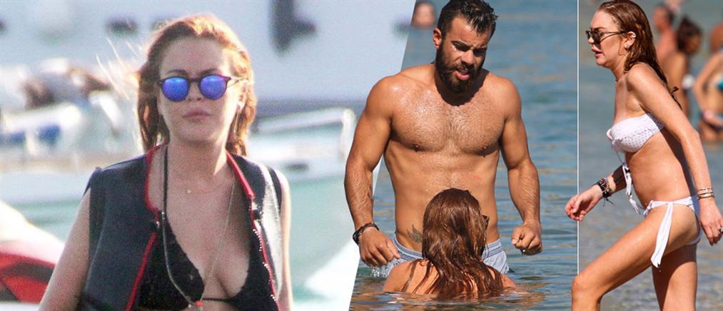 Δεν ξεκολλά από την Μύκονο η Lindsay Lohan