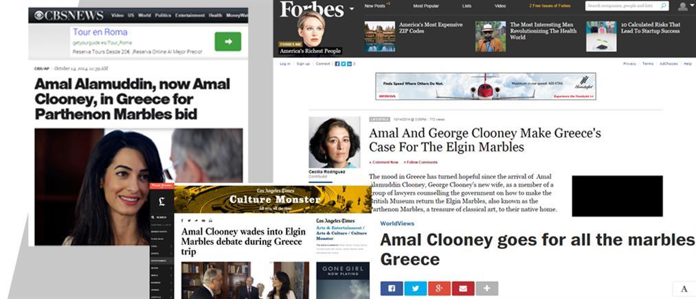 ab427ebace0a «Βροχή» δημοσιευμάτων για την επίσκεψη της Αμάλ Κλούνεϊ στην Αθήνα για τα  Γλυπτά του