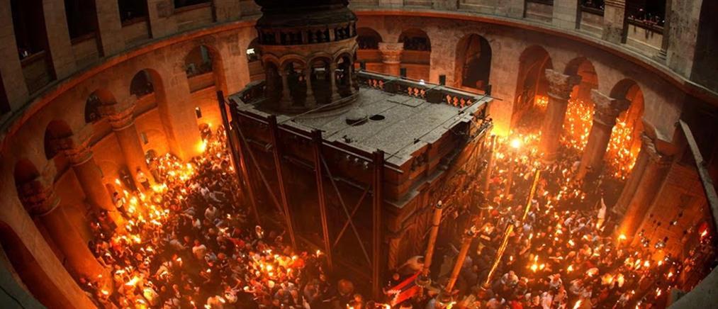 Άγιο Φως: Με λαμπρότητα η τελετή Αφής στον Πανάγιο Τάφο (βίντεο)