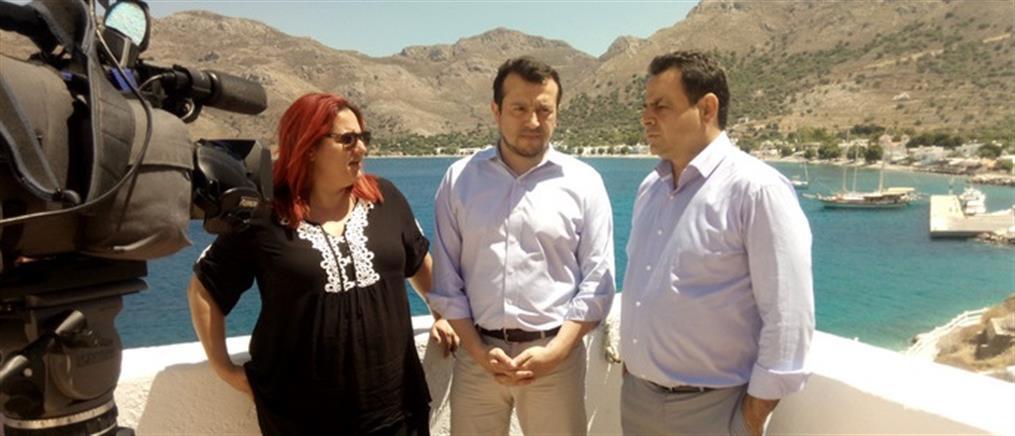 Στην Τήλο ο Νίκος Παππάς για δωρεάν δορυφορικό σήμα στα μικρά νησιά