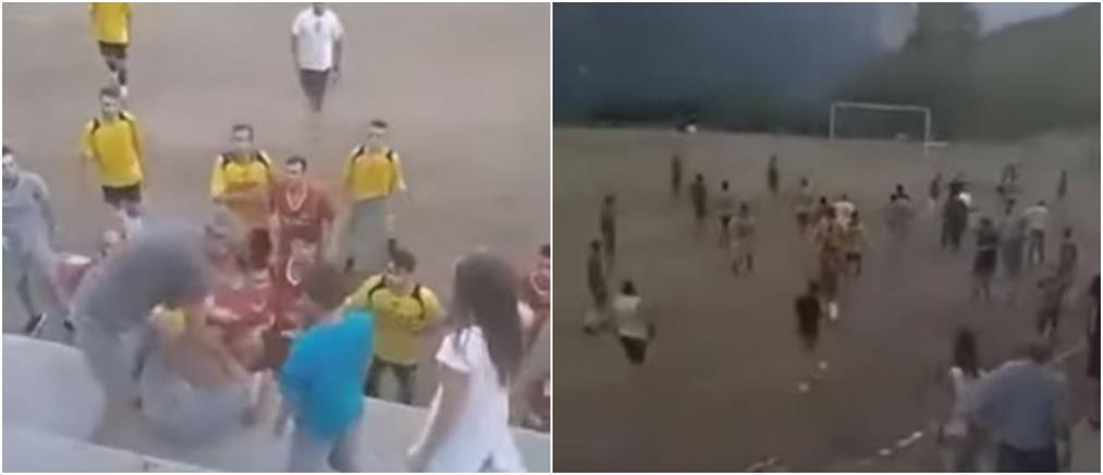 Απίστευτο ξύλο σε τοπικό αγώνα με παίκτες και θεατές (βίντεο)