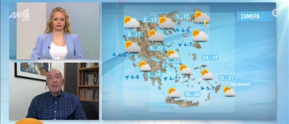 Ο καιρός για την Τετάρτη από τον Τάσο Αρνιακό (βίντεο)