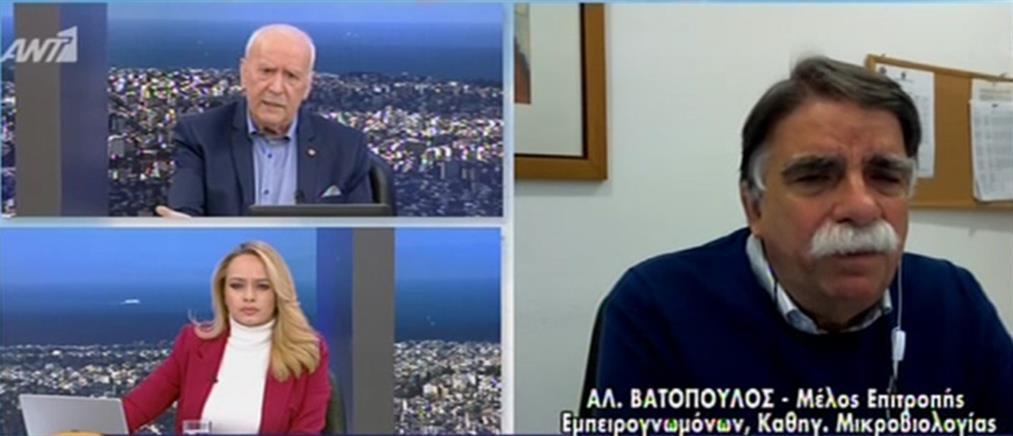 Κορονοϊός - Βατόπουλος στον ΑΝΤ1: πιθανή η κυκλοφορία με βάση την ταυτότητα (βίντεο)