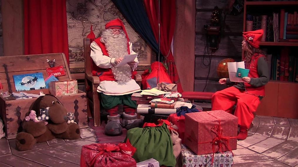 Στο...χωριό του και φέτος ο Άγιος Βασίλης