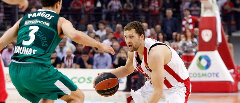 "Euroleague: ""ισοφάρισε"" την Ζαλγκίρις ο Ολυμπιακός"