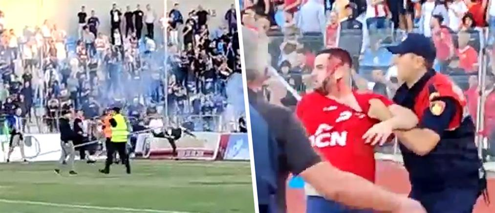 Άγρια επεισόδια στα Τίρανα: συμπλοκή οπαδών στο αλβανικό ντέρμπι (βίντεο)