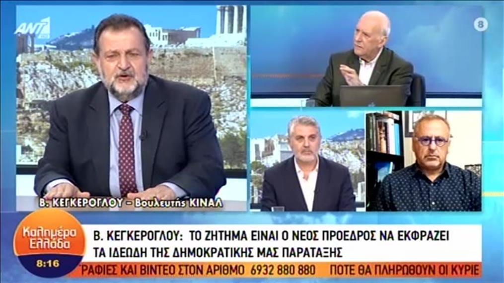 Ο Βασίλης Κεγκέρογλου για την μάχη διαδοχής της προεδρίας του ΚΙΝΑΛ