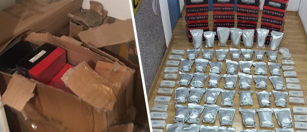 Έκρυβαν 83 κιλά ηρωίνης σε… κουτιά παπουτσιών (εικόνες)