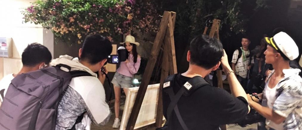 """Τα """"γυρίσματα"""" κινέζικης εκπομπής στο Αργοστόλι! (εικόνες)"""