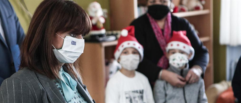 """Η Κατερίνα Σακελλαροπούλου στην Παιδόπολη """"Άγιος Ανδρέας"""" (εικόνες)"""