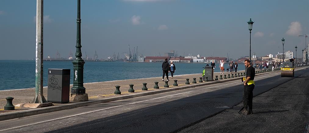 Μποτιλιάρισμα στη Θεσσαλονίκη: Κλειστό τμήμα της Λεωφόρου Νίκης (εικόνες)