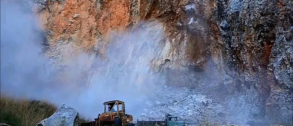 Βίντεο δείχνει καρέ-καρέ κατολίσθηση στη Λέσβο