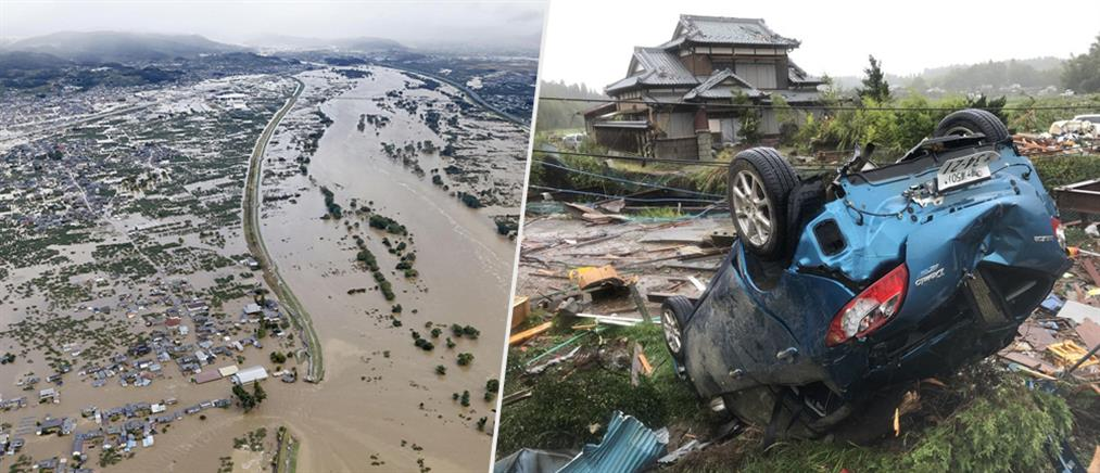 """Ιαπωνία: δεκάδες νεκροί από το πέρασμα του τυφώνα """"Χαγκίμπις"""" (εικόνες)"""