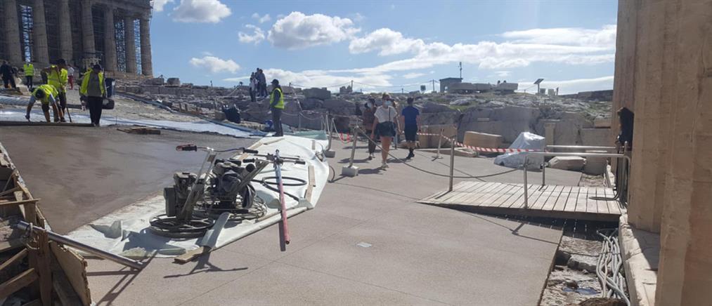 Το Υπουργείο Πολιτισμού απαντά για το τσιμέντο στην Ακρόπολη (εικόνες)