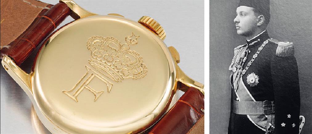 """Στο """"σφυρί"""" σπάνιο ρολόι του βασιλιά Φαρούκ της Αιγύπτου"""