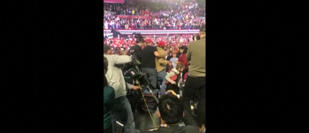 Επιτέθηκαν σε οπερατέρ του BBC σε ομιλία του Τραμπ (βίντεο)