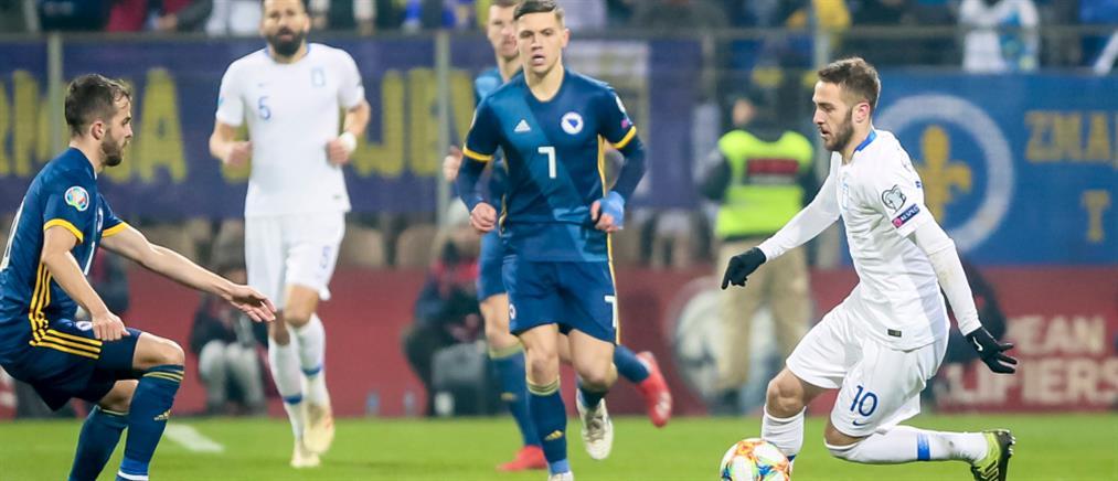 """""""Όρθια"""" με ανατροπή έμεινε η Εθνική στην Βοσνία"""