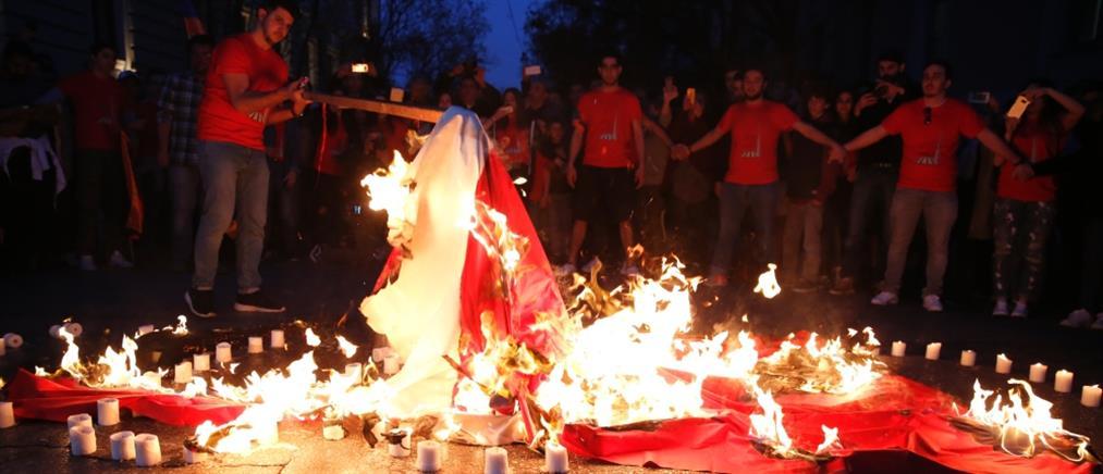 Οργισμένη αντίδραση της Άγκυρας για το κάψιμο της τουρκικής σημαίας στην Αθήνα