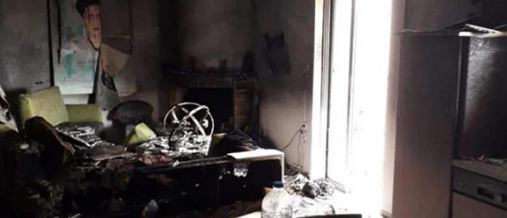 Σπίτι έγινε παρανάλωμα του πυρός (εικόνες)