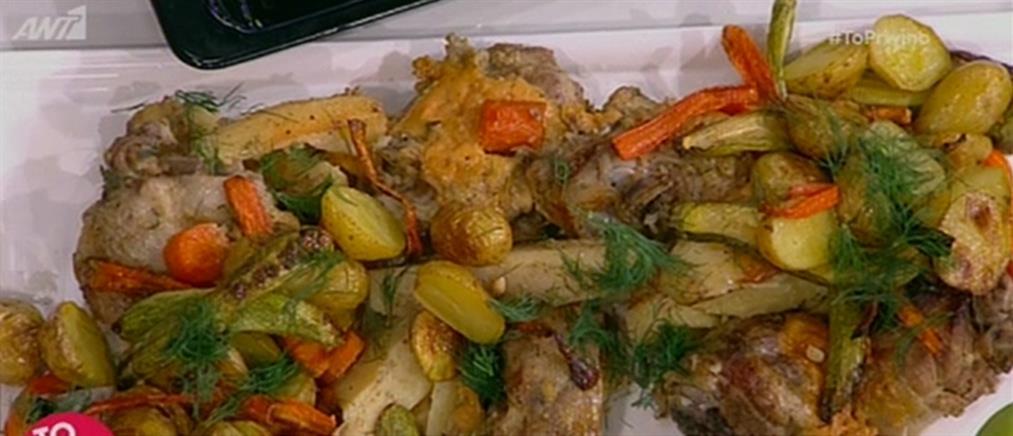 Πασχαλινό αρνάκι φούρνου από τον Βασίλη Καλλίδη (βίντεο)