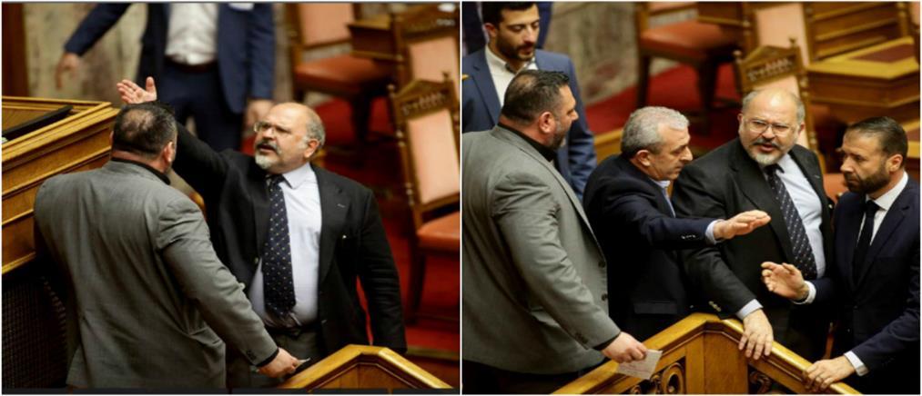 """Νέο """"θερμό"""" επεισόδιο στη Βουλή – επενέβη η φρουρά (βίντεο)"""