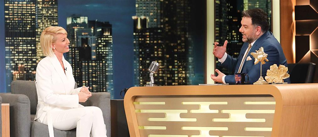 """The 2Night Show"": η Κατερίνα Μονογυιού για την πολιτική, την δυσλεξία και το μηδενικό εισόδημα (βίντεο)"
