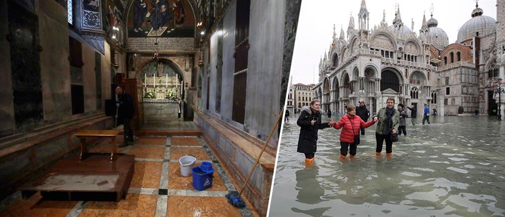 """Βενετία: Πλημμύρισαν εκκλησίες, """"βυθίστηκαν"""" πλατείες και περιουσίες (βίντεο)"""