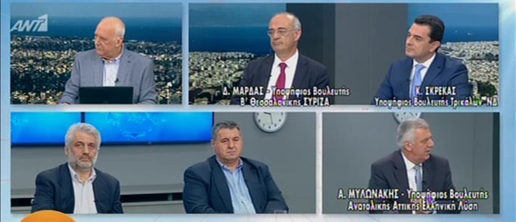 Εκλογές 2019: Μάρδας, Σκρέκας και Μυλωνάκης στον ΑΝΤ1 (βίντεο)