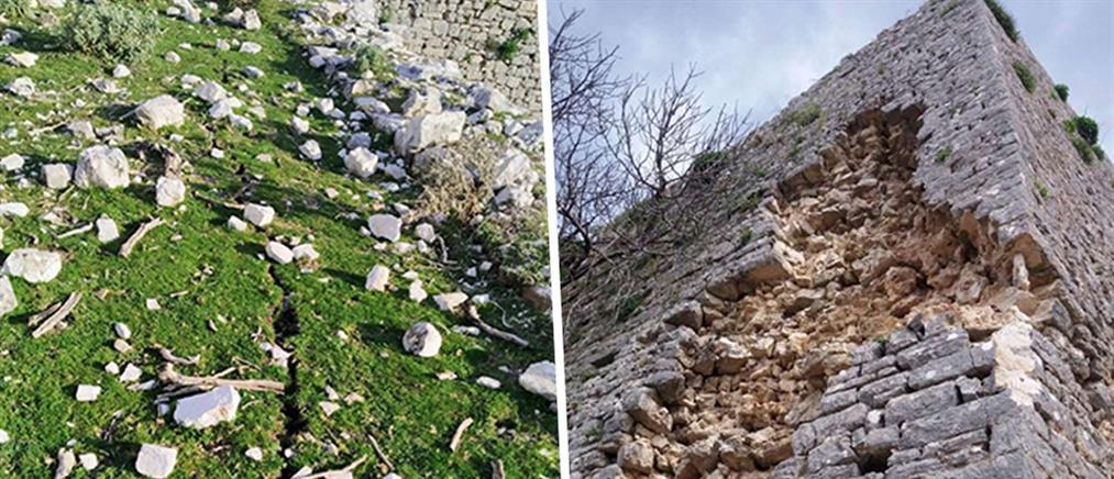 Σοβαρές ζημιές στο Κάστρο της Κιάφας από τον σεισμό (εικόνες)
