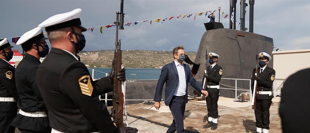 """28η Οκτωβρίου: Ο Μητσοτάκης στο υποβρύχιο """"Κατσώνης"""" (εικόνες)"""
