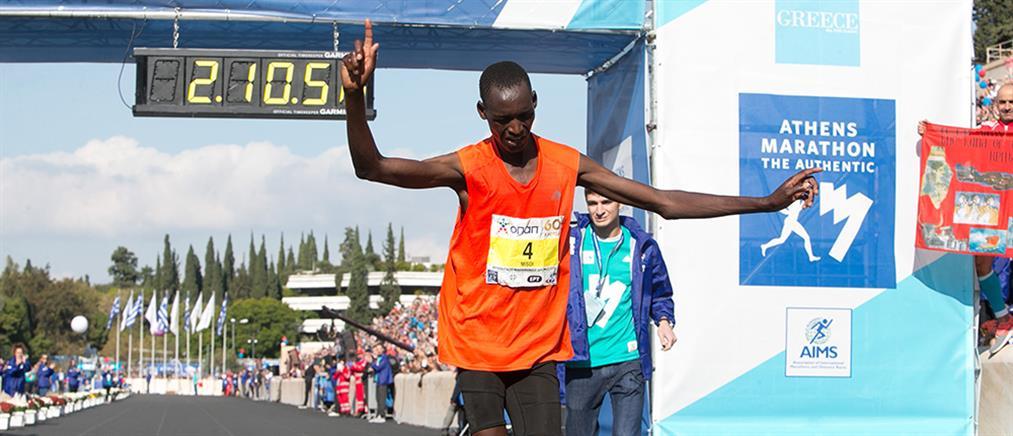 36ος Μαραθώνιος: Κενυάτης έκοψε πρώτος το νήμα (βίντεο)
