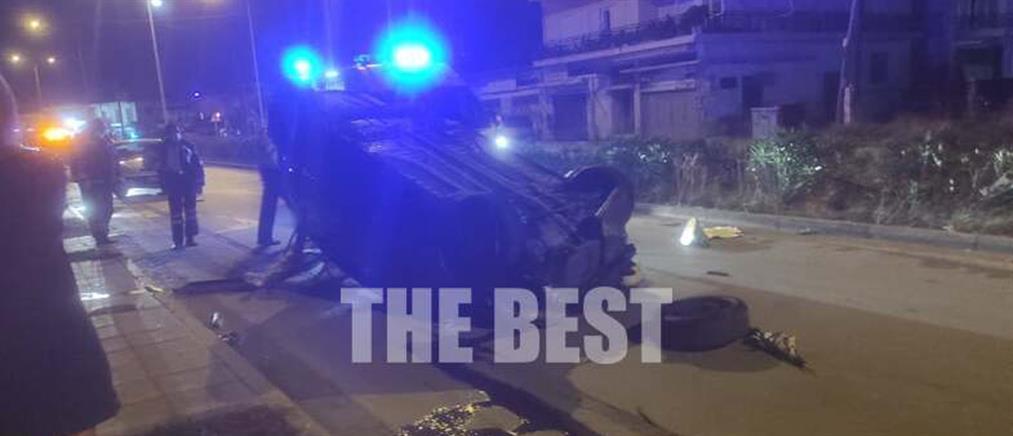 Σοκαριστικό τροχαίο: ΙΧ ντεραπάρισε στην μέση του δρόμου (εικόνες)