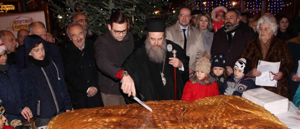 """Χριστόψωμο 400 κιλών για το """"μέλωμα του Χριστού"""" στην Αρναία Χαλκιδικής (φωτο)"""