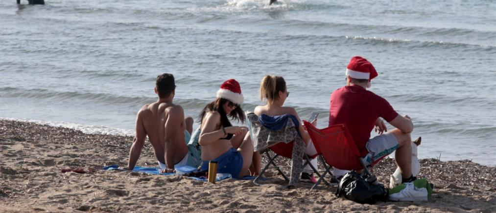 Γέμισαν οι παραλίες ανήμερα τα Χριστούγεννα (εικόνες)