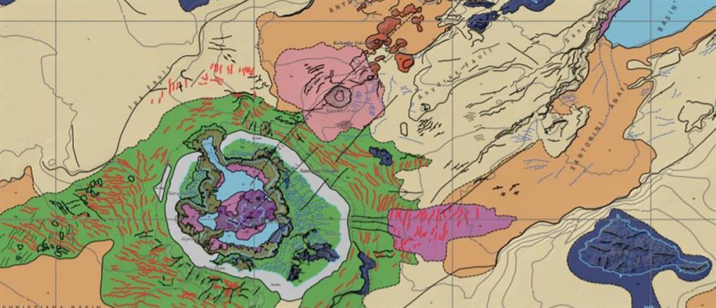 Σαντορίνη: Πρώτος γεωμορφολογικός χάρτης... από άλλο πλανήτη