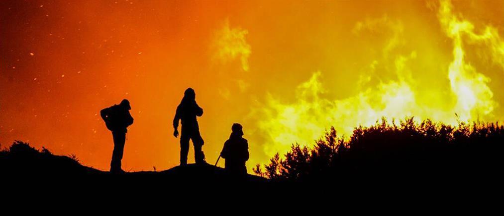 Φωτιά στη χωματερή των Άνω Λιοσίων