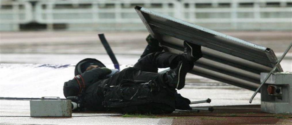 Κινδύνευσε φωτορεπόρτερ στο ΟΑΚΑ (εικόνες)