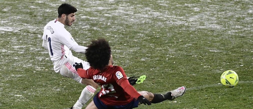 Ρεάλ Μαδρίτης: Κόλλησε στο… χιόνι κόντρα στην Οσασούνα